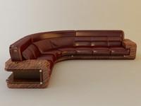3d florence corner sofa model
