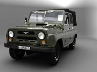 uaz jeep 3d model