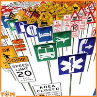 3d street traffic sign