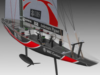 competition sailing yacht italy 3d model