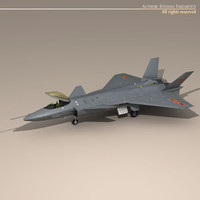 3d chengdu j-20 stealth fighter model