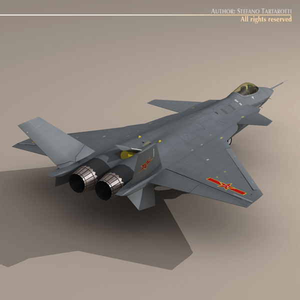 3d chengdu j-20 stealth fighter model - Chengdu J-20... by tartino