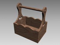 garden caddy wood 3d max