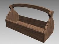 max garden toolbox wood