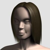 3d hair character mesh