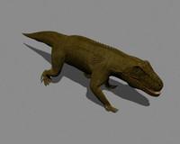 3d saurosuchus archosaur model