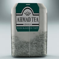 tea bag ahmad 3d model