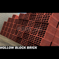 3d hollow block brick