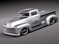 3d chevrolet pickup 1950 oldtimer model