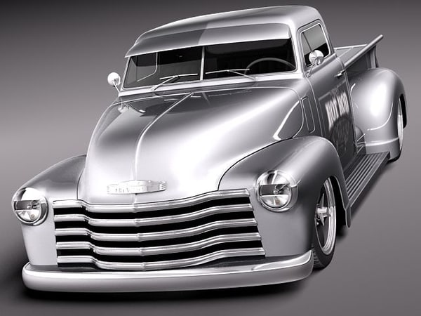 3d chevrolet pickup 1950 oldtimer. Black Bedroom Furniture Sets. Home Design Ideas