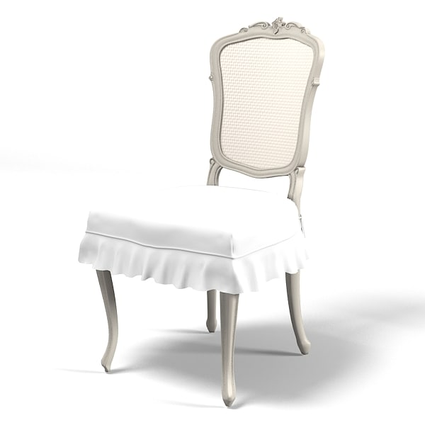 classic traditional provence country dining side chair elegant upholstery wicker back.jpg