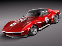 3ds max chevrolet corvette c3 1969