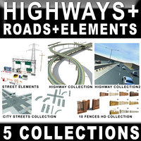 3d highway roads model