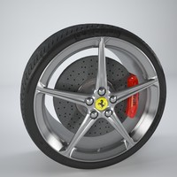 3ds max ferrari wheel