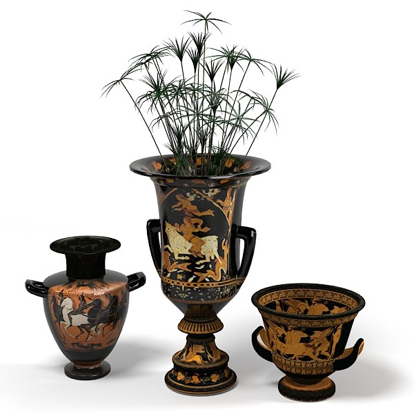 oriental classic eastern vase accent egypt jug planter plant.jpg