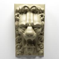 3d model lion pedestal
