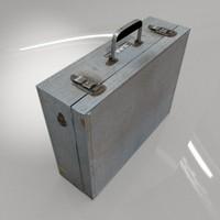 3d aluminum briefcase