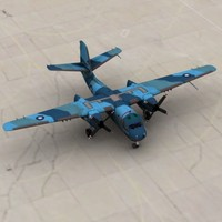 3d model of tracker aircraft navy