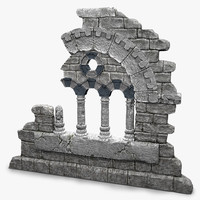 3d old fantasy ruin-element