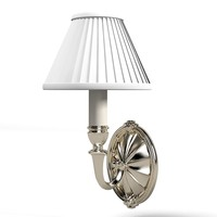 wall lamp classic traditional chrome white shade