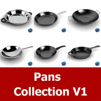 pan cookware 3d model