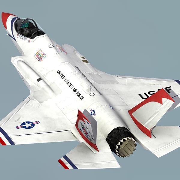 USAF Thunderbirds F35 Custom Airplane Model