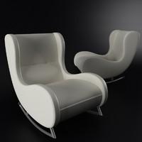 realistic armchair arte-m 3ds
