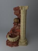 3d stone column model