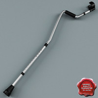 3d 3ds crutches modelled