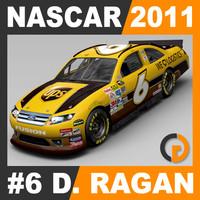 nascar 2011 david ragan 3d dxf