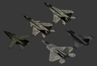 Lowpoly Military Aircrafts
