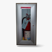 extinguisher cabinet 3d model