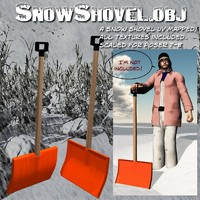snow shovel 3d obj