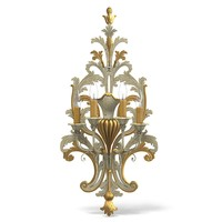 chelini 825 big tall classic wooden carved wall lamp sconce baroque rococo provence
