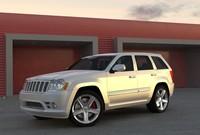 3d model jeep grand cherokee srt8