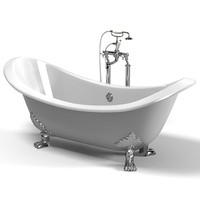 calssic english bath with bathtub set with pipes