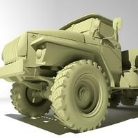 3d russian ural 4320 model