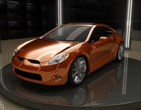 3d eclipse car model