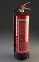 Fire extinguisher with wall holder