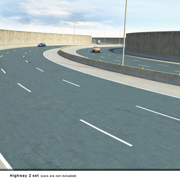 highways collections bridges overpass 3d max - Highways Collection... by 3D_Multimedia