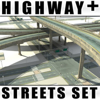 maya collections streets highway sets