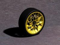 free trans snowflake wheel 3d model