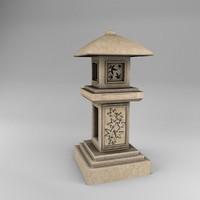 pedestal lantern tachi-gata obj