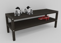 shoe shelf 3d model
