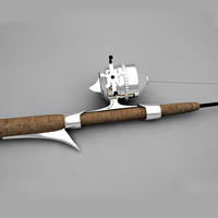 fishing rod 3d model