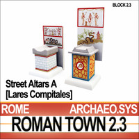 Roman Town Street Altars A 2.3 Low Poly Lares Compitales