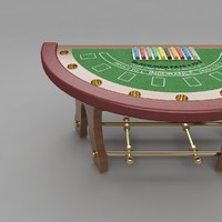 3d blackjack table 5 model