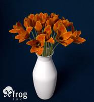 3dsmax tulip planted
