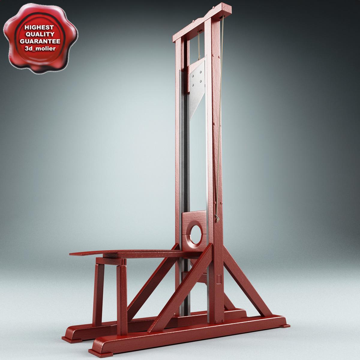 maya guillotine modelled. Black Bedroom Furniture Sets. Home Design Ideas