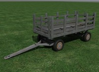 hay wagon 3d model